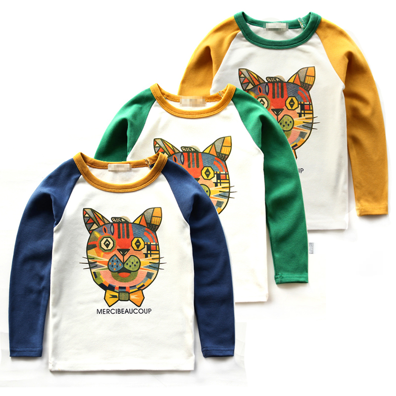 Spring 2015 Kids children cotton long-sleeved T-shirt tide Korean version of compassionate new baby boy bottoming shirt hedging(China (Mainland))