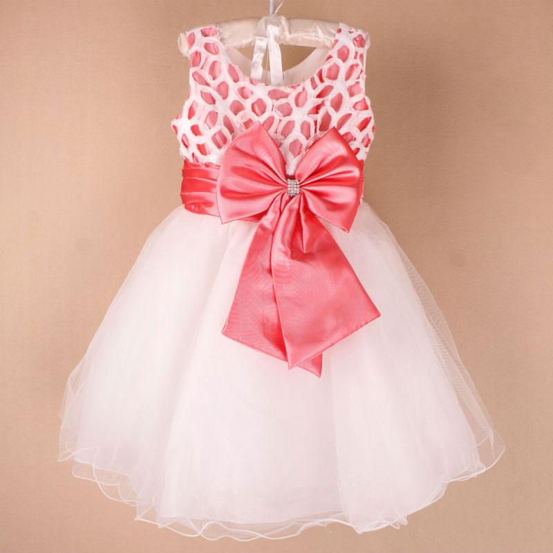 Здесь можно купить  wholesale New arrive girl party Dress with bow kid girl dress Chidren New year dress free shipping 6pcs/lot MK-27  Детские товары