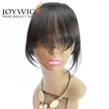 Free Shipping Human Hair Clip Bangs Human Hair Fringe Straight Extension Hair Piece(China (Mainland))