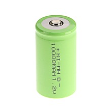 Green Color 2016 New Arrival ! 4 PCS D Size 10000 mAh 1.2 V  NI-MH Rechargeable Battery