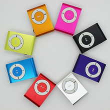 Lowest price promotion mini metal clip MP3 Player with tf card slot Free shipping