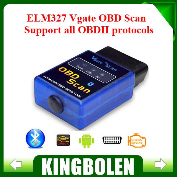 2015 Latest Version MINI ELM 327 Bluetooth Vgate Scan OBD2 / OBDII ELM327 V2.1 Code Scanner(China (Mainland))