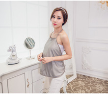 Radiation protection suits for maternity 2016 summer new fashion halter tops pregnancy clothes silver fiber cute camis tank tops(China (Mainland))