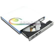 Netbook Notebook USB 3.0 External Blu-ray Burner for Pioneer BDR-TD05 6X 3D Bluray Writer BD-RE DL 4X BDXL Optical Drive White(Hong Kong)
