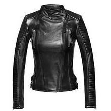 Leather Jacket Women Jackets Coat Slim Biker Motorcycle Soft Zipper girl Leather Jaquetas De Couro feminina women's clothing()
