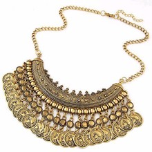 Buy 2016 Bohemian Statement Coin Necklaces & Pendants Women Collier Femme Bijoux Jewelry Vintage Maxi Necklace Colar Choker for $2.10 in AliExpress store