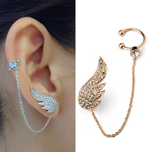 Buy 2015 New Style Fashion Ear Cuff Jewelry Inlay Austrian Crystal Angel Wings Stud Earring Sets Fashion Party Jewelry for $6.17 in AliExpress store