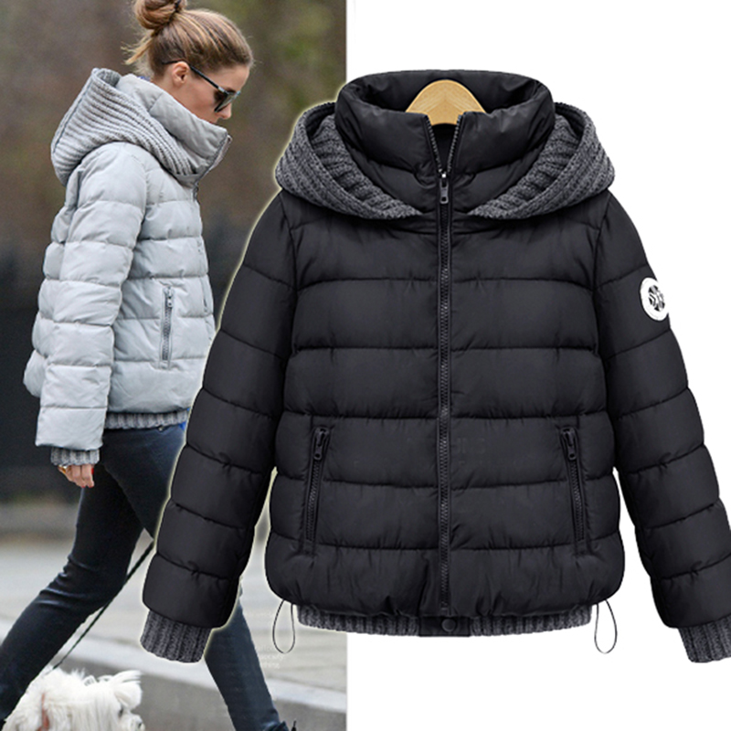 New Slim Knitting Wool Hood Manteau Hiver Femme 2015 Duck Down Parkas For Women Winter Jacket Coat Solid Warm Doudoune C24Одежда и ак�е��уары<br><br><br>Aliexpress