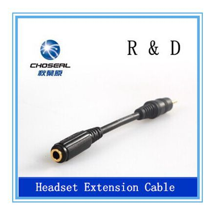 Choseal Q-320 audio cabel plug 2.5 male to 3.5 female, the female headphone socket extension cord(China (Mainland))