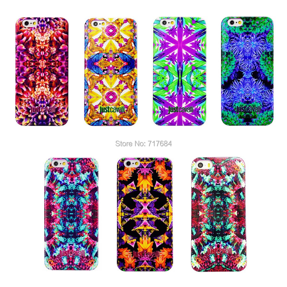 1 Piece Just Cavalli Soft TPU Silicon Flowers Case Cover for iPhone 6 6s (4.7 inch),Free Shipping(China (Mainland))