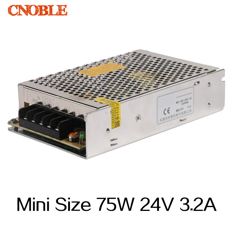 75W 24V 3.2A Mini Size Single Output Switching power supply for LED Strip light<br><br>Aliexpress