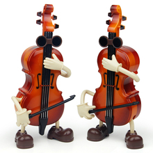 Fashion birthday gift music toys Violin people muxic box for home decoration