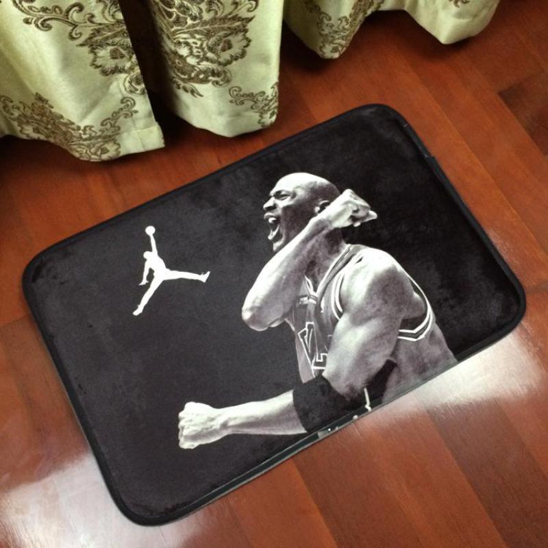 Jordan Kobe Series Flannel Square Sports Basketball Stars Decorative Home Mat Rugs Bedroom Carpet Mats Anti-skid Foot Home(China (Mainland))