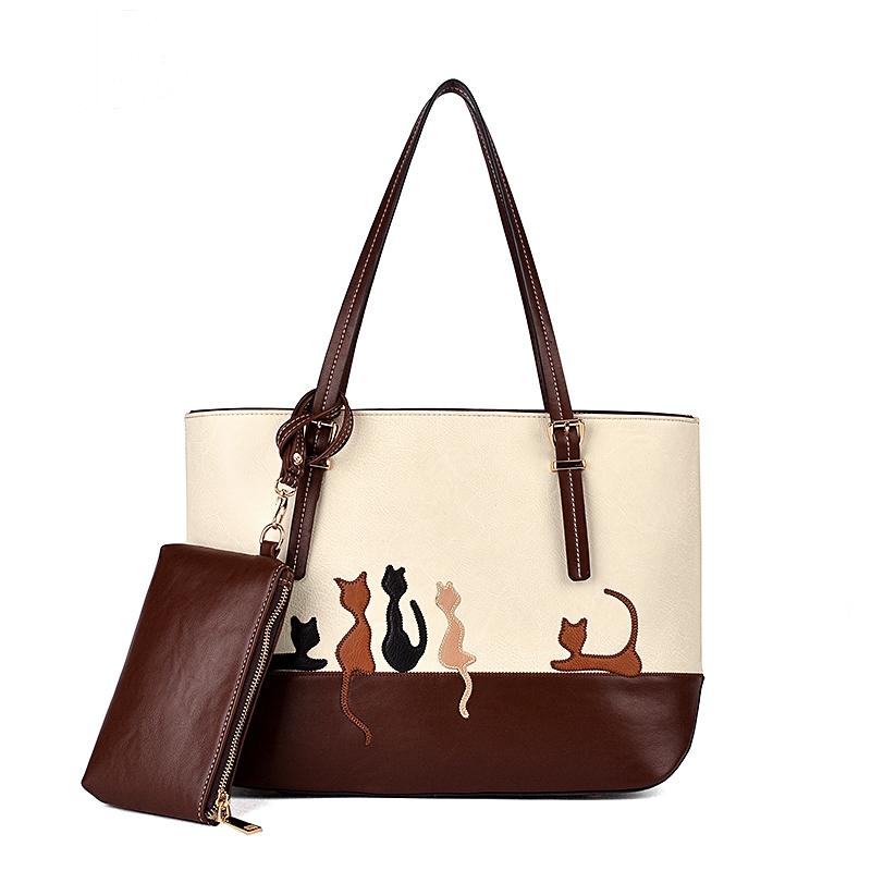 Hot sale The latest fashion cartoon handbags Cat cartoon women bag Women s leather handbag Women