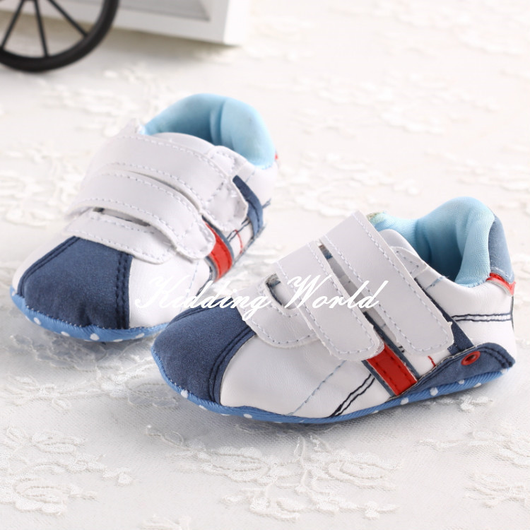 2014 mothercare velcro baby boy sport shoes baby forst walker with soft cotton sole(China (Mainland))