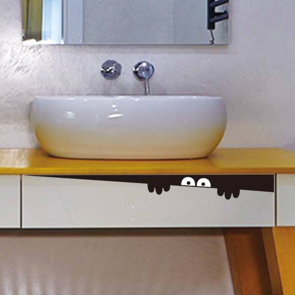 Toilet Monster Decal Vinyl Bathroom Sticker Wall Mural Furniture Home Room DIY Free Shipping