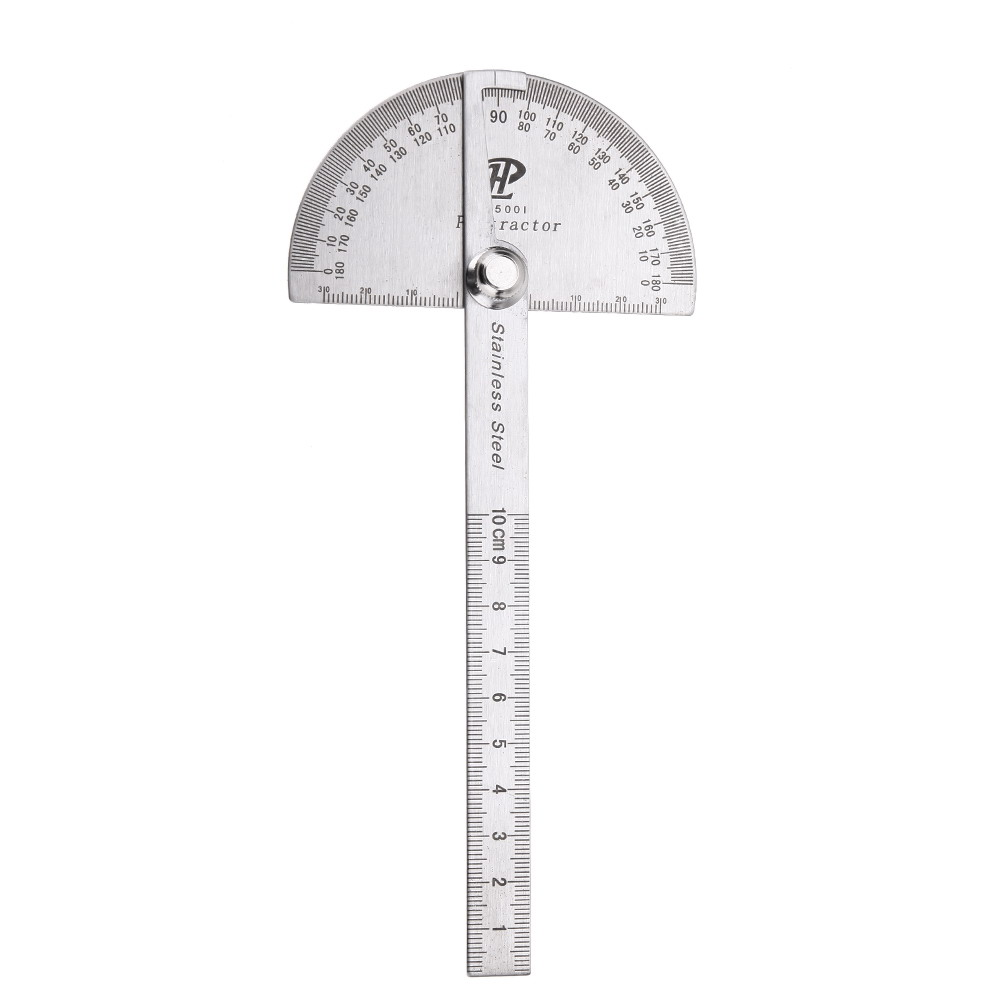 Stainless Steel Protractor 180 degree Round Head Angle Finder Craftsman Rule Ruler Machinist Tool(China (Mainland))