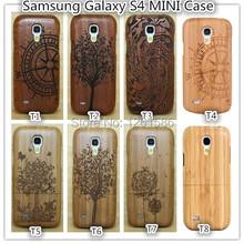 100%Natural Compass/Tree/Camera Multi-Pattern Wooden Bamboo Case Phone Cover for Samsung Galaxy S4 mini i9190 i9192 i9195 i9198(China (Mainland))