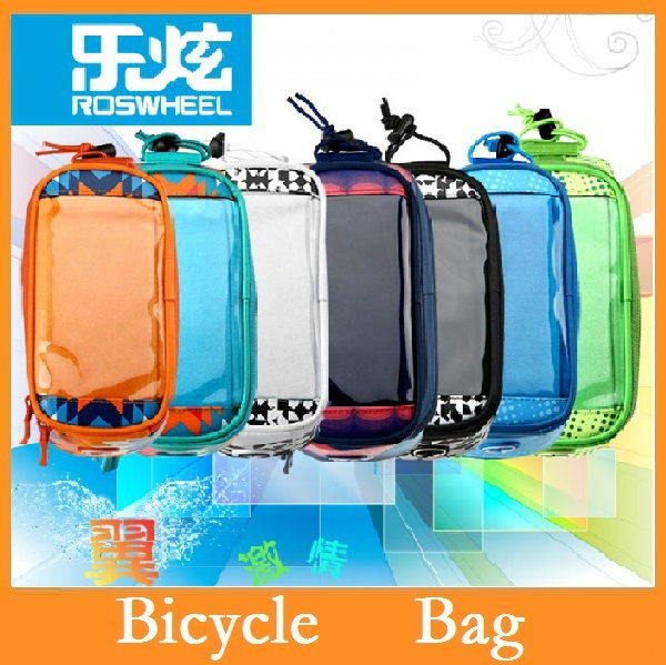 """ROSWHEEL Waterproof Cycling Bike Bicycle Frame Front Tube Bag For Cell Phone for phone6 within 5.2 """" Multicolor 24pcs/lot DHL(China (Mainland))"""