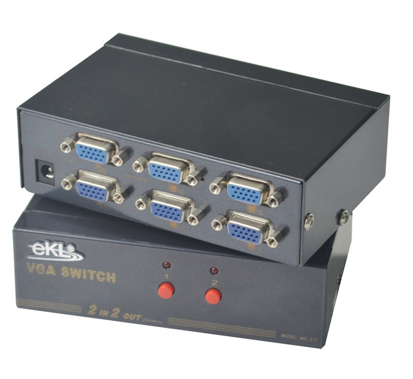 Vga switcher distributor 2 4 2 4 hd sharing device ekl(China (Mainland))