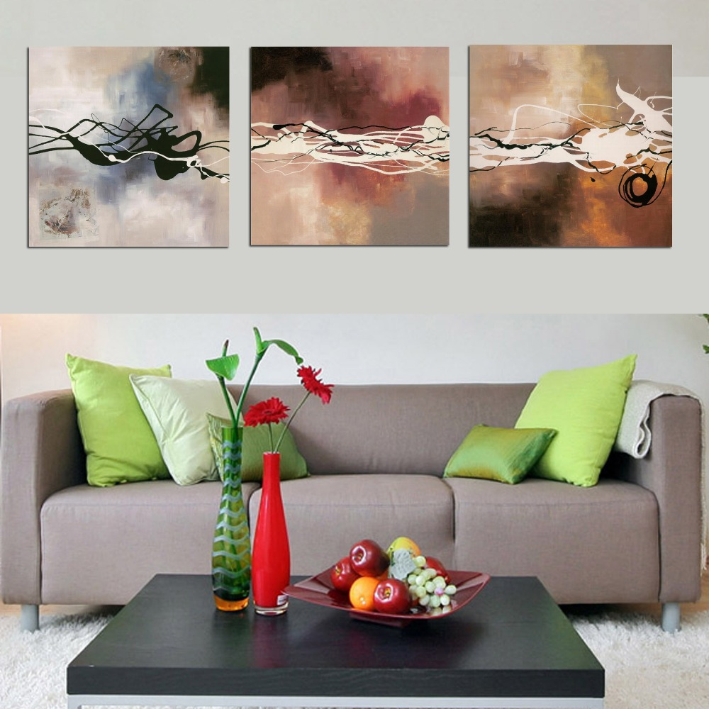 [No Framed] 3 piece Canvas Art Abstract Oil Painting By Numbers DIY Digital Pictures Coloring By Number Canvas Home Decoration(China (Mainland))