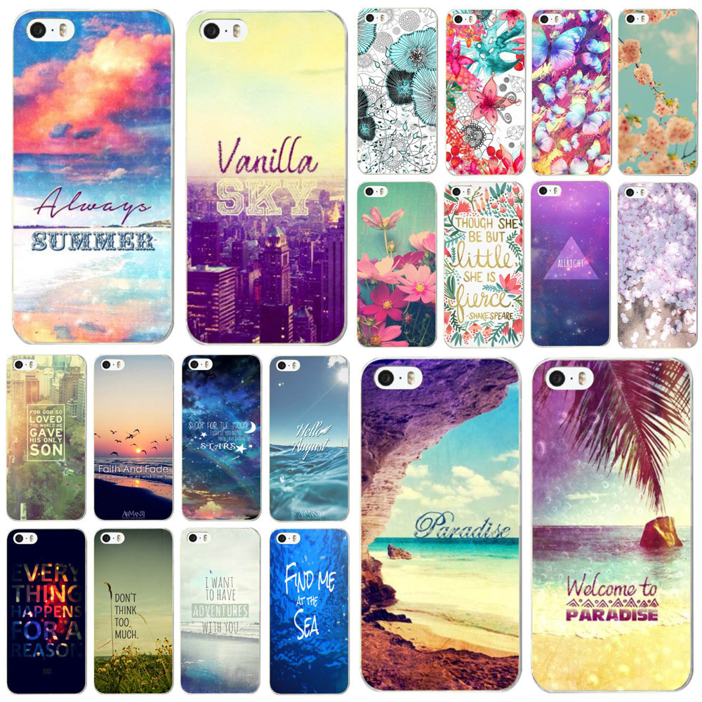 Various Printed Flowers Patterns Hard Plastic Phone Case for iPhone 5C PC Skin Cover Back Protector Shell Moblie Phone Bag(China (Mainland))