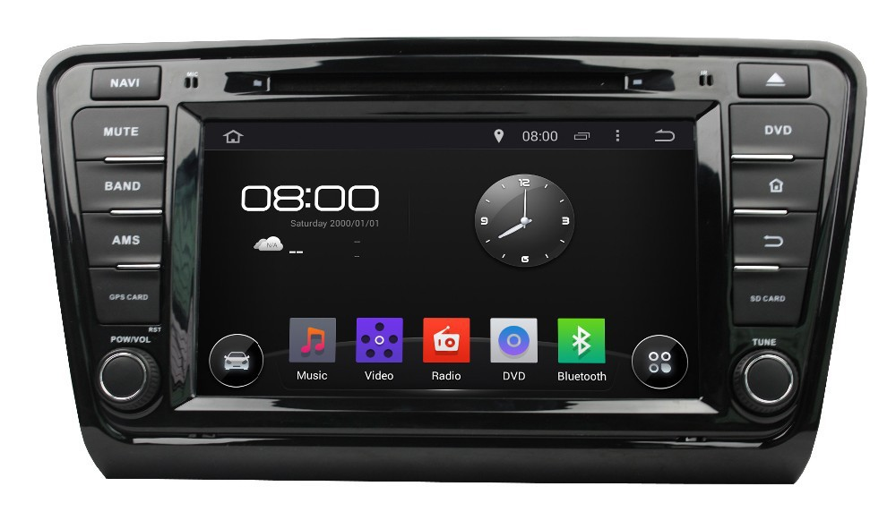 GPS Navigation touch Screen Car Stereo DVD player For Skoda Octavia 2013 2014 With GPS Radio Bluetooth iPod Can-Bus, Free Map(China (Mainland))