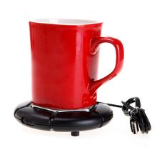 Portable SB Electronics Gadgets Powered Coffee Cup Tea Mug Tray Warmer Drink Heater USB Cup Pad Home Office use