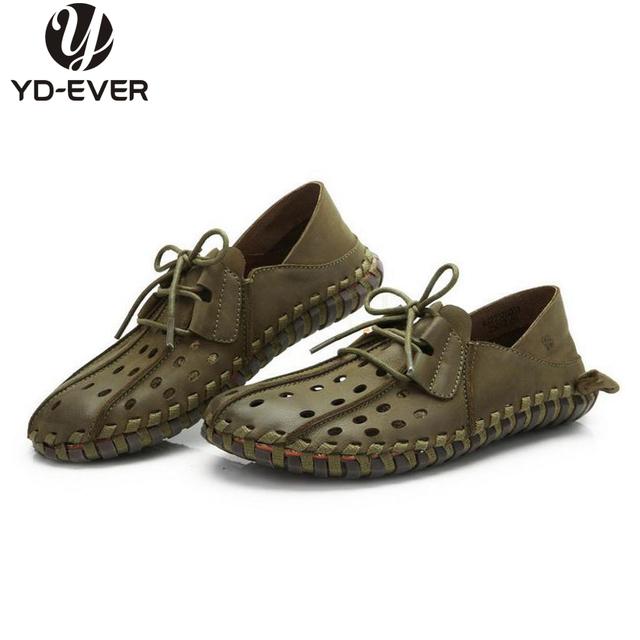 100% натуральная кожа мужчины обувь, Ручной Большой размер обувь для вождения, Бизнес ...