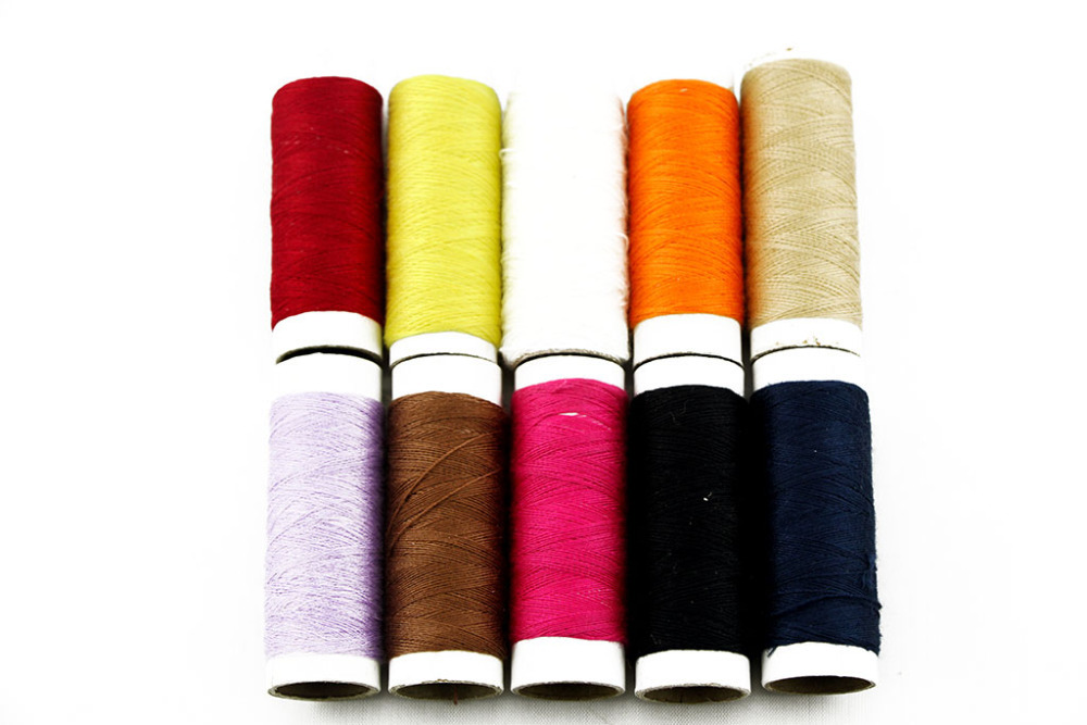 Polyester Sewing Machine Spools Threads Sew Embroidery Multiple color(Pack of 10)(China (Mainland))