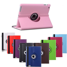 Free Pu Leather Rotating Case Smart Cover Stand Tablet case For APPLE ipad mini 123 A1432`A1454`A1489`A1491`A1599`A1600`A1601(China (Mainland))