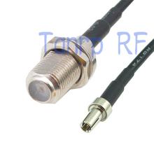 10 шт. 6in F женский джек TS9 штекер рф разъем адаптера 15 см пигтейл коаксиальный соединительный кабель RG174 удлинитель