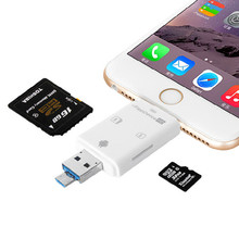 Newest 3-in-1 iFlash Drive USB Micro SD HC TF Card Reader Writer for iPhone 5/5S/6/6s/6 Plus/iPad/IPad pro/ Android Cellphones