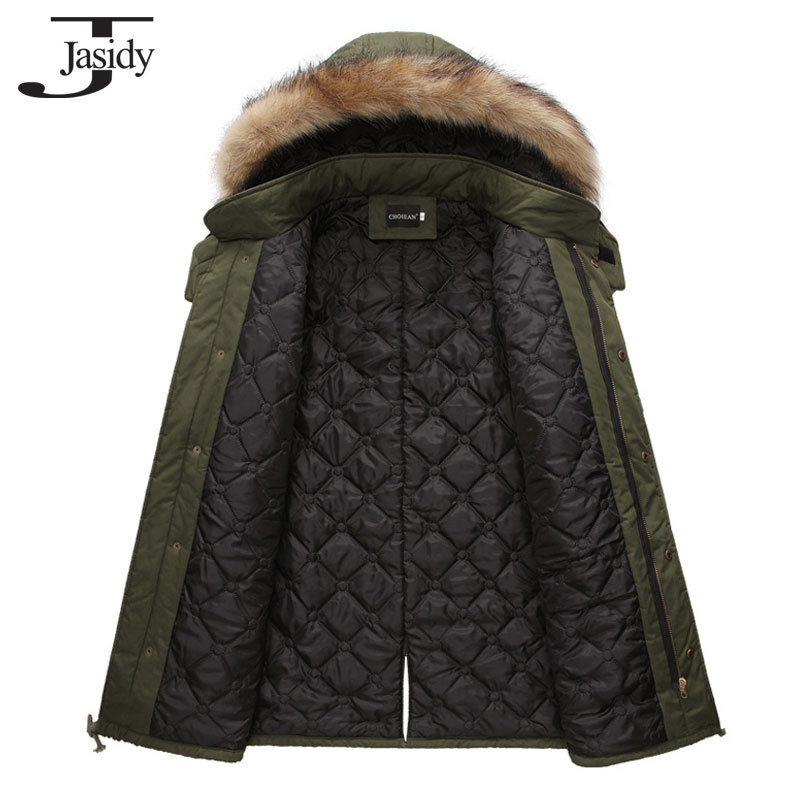 M 2XL Long Thick Slim Hat Winter parkas Men Cotton Zipper Warm Winter Coat Men Solid