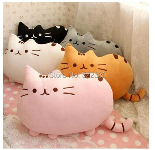 Novelty Soft Plush Stuffed Animal Doll Talking Anime Toy Pusheen cat pillow for Girl Kid Cute Cushion brinquedos 40*30(China (Mainland))