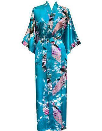 Большой размер S-XXXL халат с поясом японские гейши юката кимоно сатинировки женщин ...