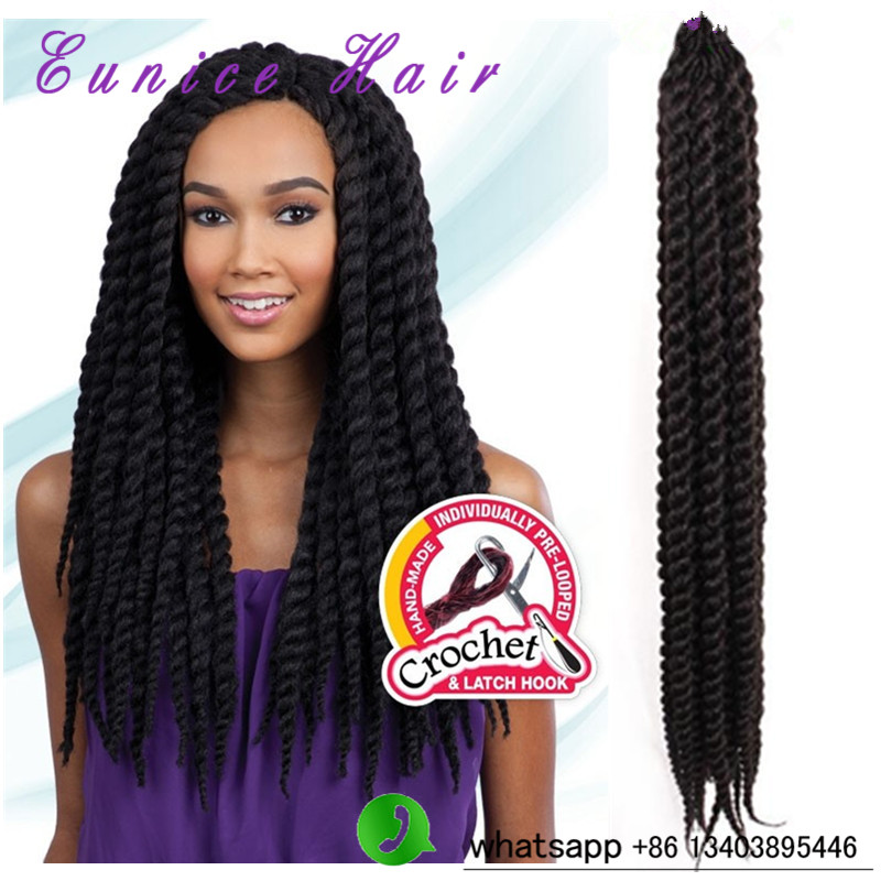 "Bouncy HAVANA MAMBO Twist Crochet BraidS 12"" 24""Havana Jumbo TWIST HAIR, CROCHET Braids FAUXLOCKS Havana Senegalese twist(China (Mainland))"