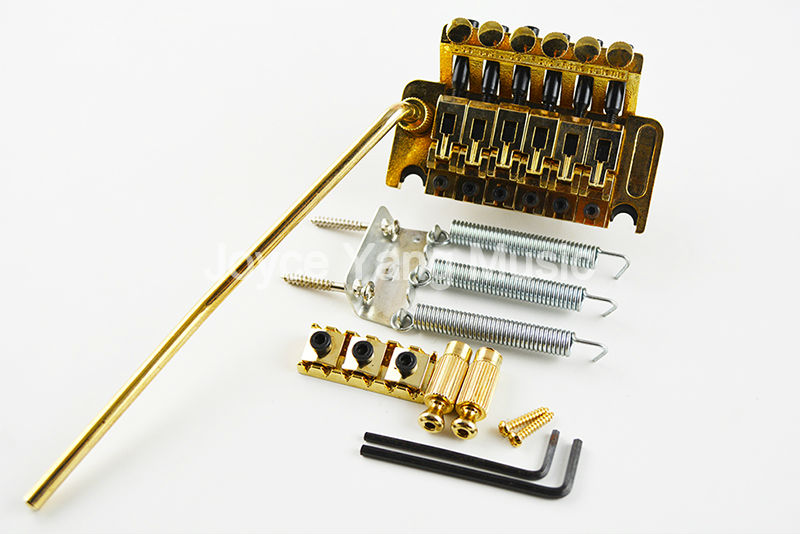 New Gold Floyd Rose Lic Electric Guitar Tremolo Bridge Double Locking System Free Shipping Wholesales(China (Mainland))