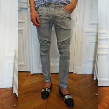 free shipping!new man 2015 jeans men slim casual mens designer pants low-waist straight elastic fashion brand young boys(China (Mainland))
