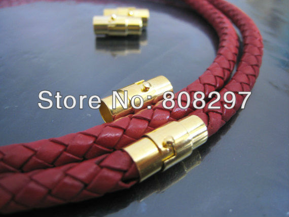 DIY 12mm x 8mm Plating Gold Of Open Round Magnetic Buckle Ends Clasp Clousure Fastener Fit Leather Bracelet Jewelry Finding<br><br>Aliexpress