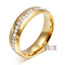 stainless steel rings for women jewelry wholesale wedding rings with AAA CZ stone  men and women ring
