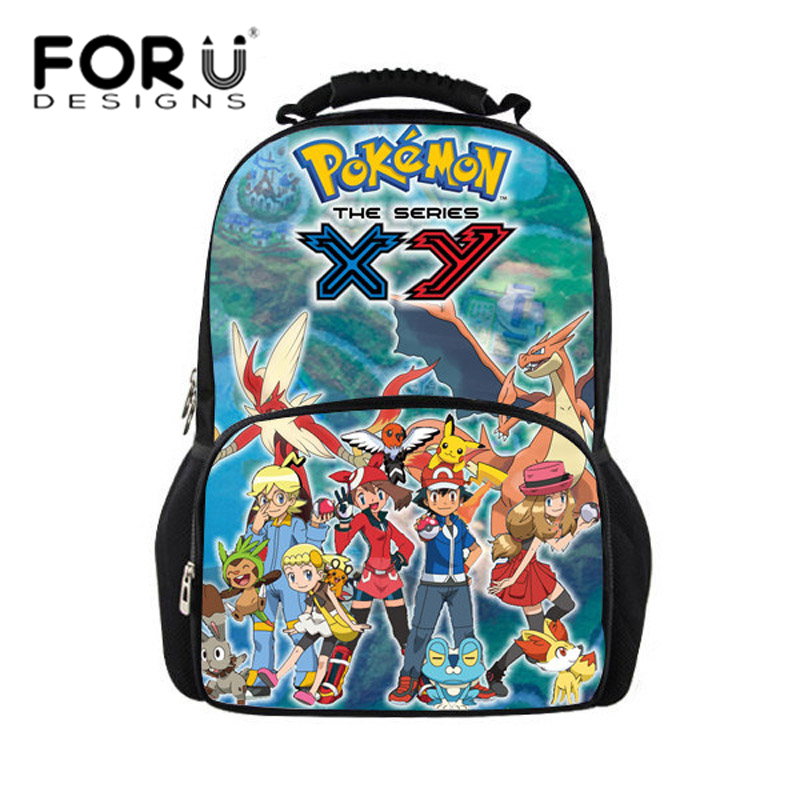 2016 back to school backpack bags for children dragon ball printing teenager boys big backpacks pokemon schoolbags bagpack kids(China (Mainland))