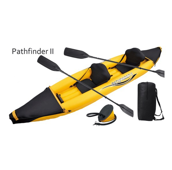 DHL free shipping Pathfinder II 2 preson inflatable sport boat 376*77*34CM 2pair 221cm Alumnium oars pump repair kit kayak canoe(China (Mainland))