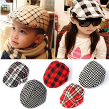 Children children's classic Plaid Beret Hat bonnet cap wholesale children(China (Mainland))