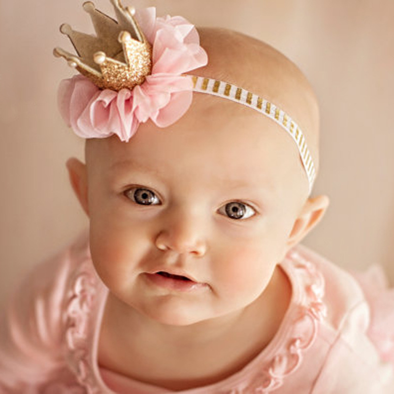 2017 newborn headbands pearl crown headwear DIY jewelry Photography props Children girls hair accessories