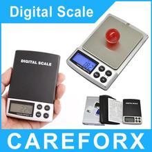 Envío gratis electrónica escala de la joyería comercial 1000 g mini escala electrónica portátil mini escala de bolsillo 0.1 g