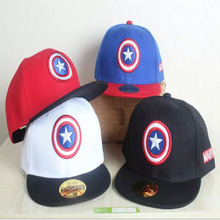 Fashion Boy Baseball Caps For 3-8 Years Old Children Captain America Design Snapback Caps Adjustable Cap For Girl CC008(China (Mainland))