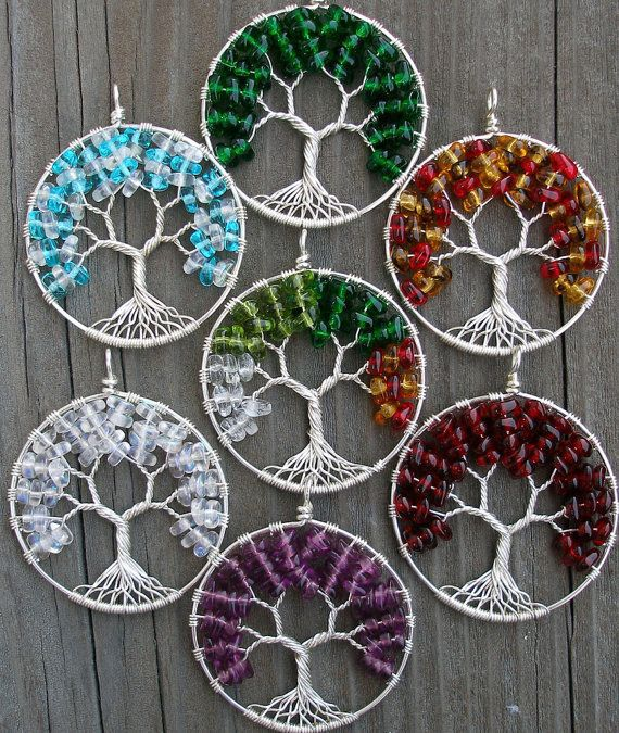 Wholesale Natural crystal Pendant Tree Of Life Wire Wrapped Chip Semi Precious agate Necklace Pendant in silver circle 10pcs/lot(China (Mainland))
