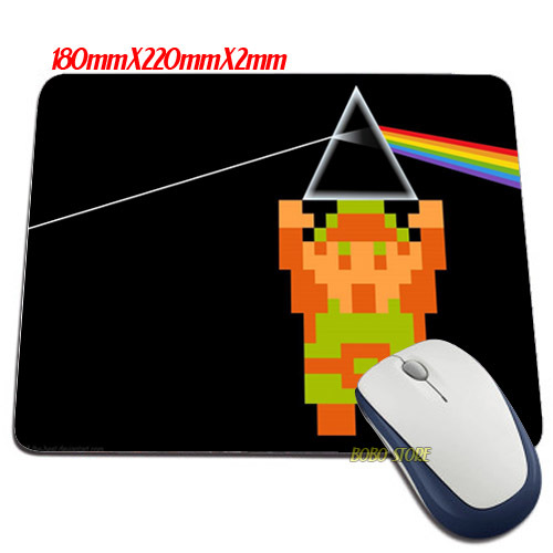 New mat Luxury LINK PINK FLOYD THE LEGEND OF ZELDA PRISM RAINBOW Mouse Mats Anti-Slip Rectangle Mouse Pad(China (Mainland))