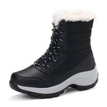 Doratasia Siyah Açık Çizmeler Kadın Ayakkabı Kaymaz Su Geçirmez Rusça Kış Kar çizmeler kadın ayakkabıları Sıcak Peluş Botas Mujer(China)